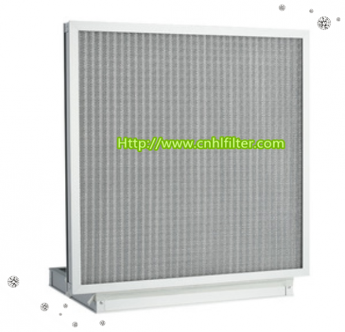Aluminium Frame Deep Pleat Industrial Filter Box