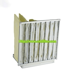 Waterproof FPF Medium Bag Galvanized Aluminum Air Filter For Central Air Conditioning