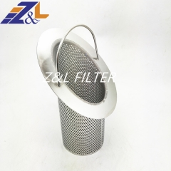 Customized 304 316 flange pipe filter cartridge Stainless Steel Basket Filter
