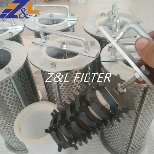 Customized stainless steel basket filter 304 flange tube filter element Magnet filter element for steel factory ,lubration oil station